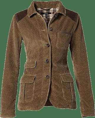 Коричневый пиджак из вельвета