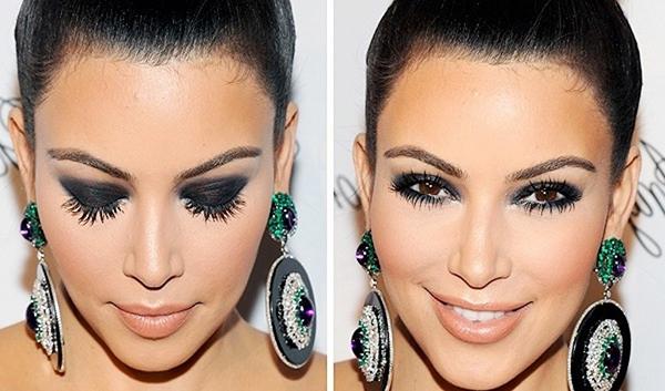 дымчатый макияж карих глаз