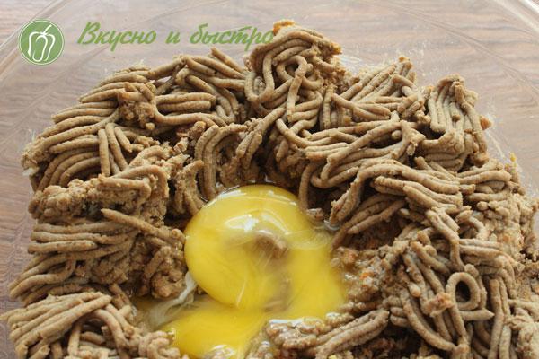 Котлеты из печени с гречкой рецепт - фарш из печени