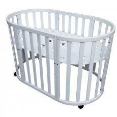 Круглая, овальная детская кроватка