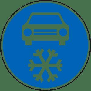 Синий дорожный знак