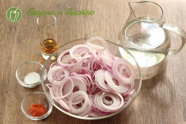 Как мариновать лук в уксусе для салата