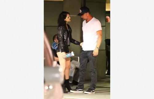 *EXCLUSIVE* Josh Duhamel and Eiza Gonzalez pack on the PDA during date night in Hollywood **WEB MUST CALL FOR PRICING**