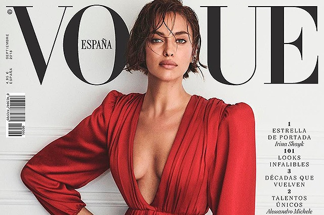 Ирина Шейк на обложке испанского Vogue