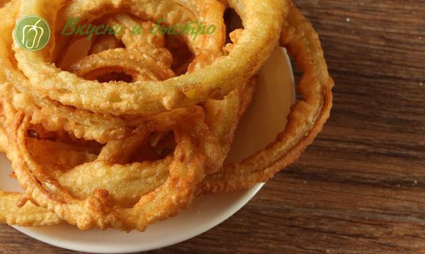 луковые кольца во фритюре рецепт