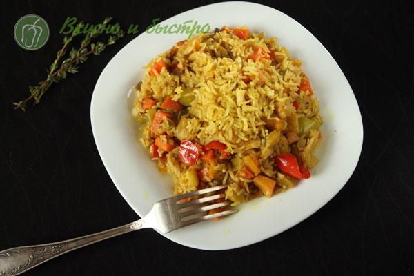 как вкусно приготовить рис с овощами
