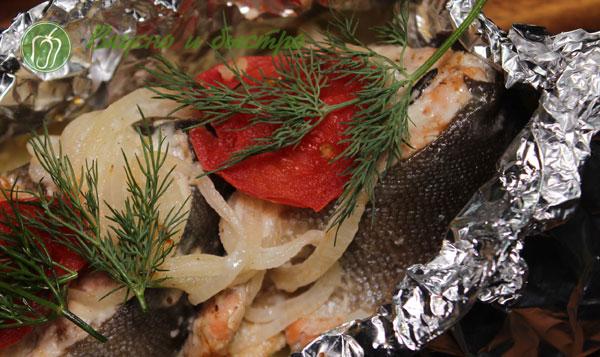 горбуша в фольге с овощами в духовке