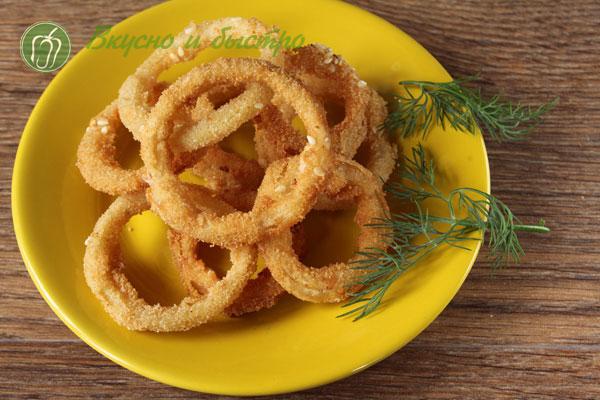 как готовить луковые кольца в панировке