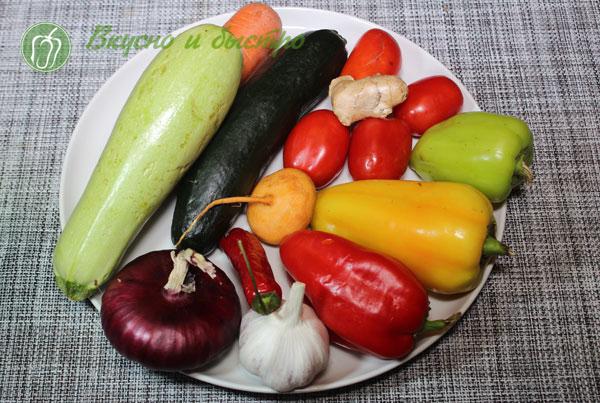 как готовить рис с овощами