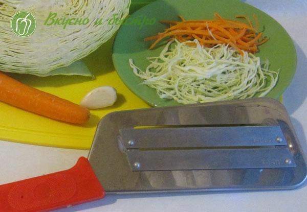 Хрустящая маринованная капуста быстрого приготовления в маринаторе