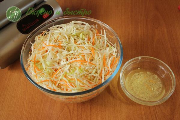 Капуста маринованная быстрого приготовления с морковью рецепт