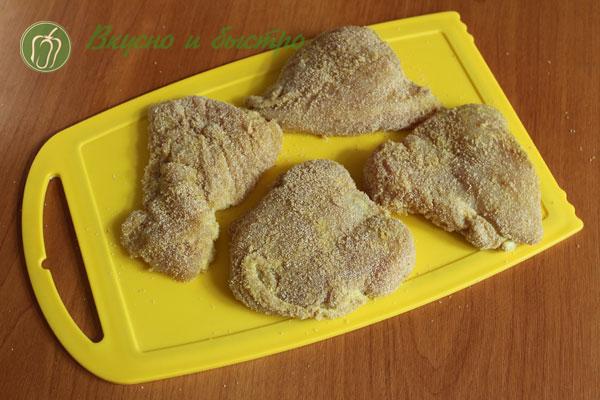 Куриная грудка маринованная в майонезе в маринаторе