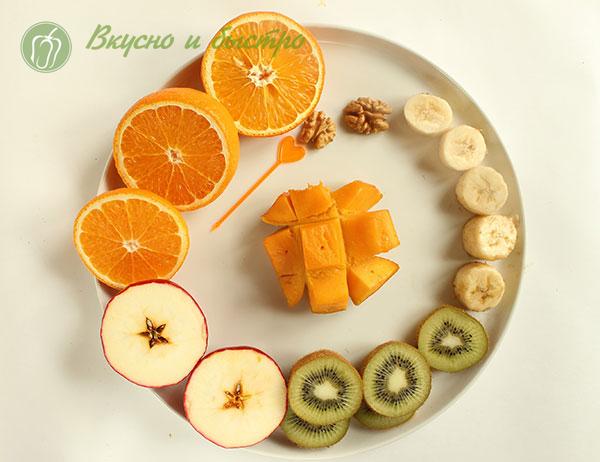 фруктовые канапе на шпажках